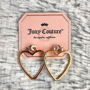 Juicy Couture Heart Accented Earrings